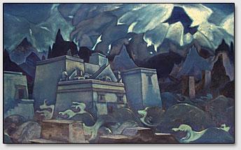 Гибель Атлантиды, Н.К.Рерих, 1929 год